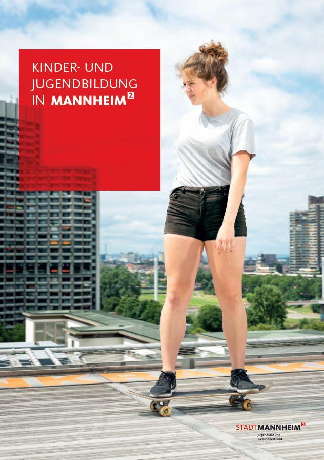 Cover der Imagebroschüre Kinder- und Jugendbildung in Mannheim